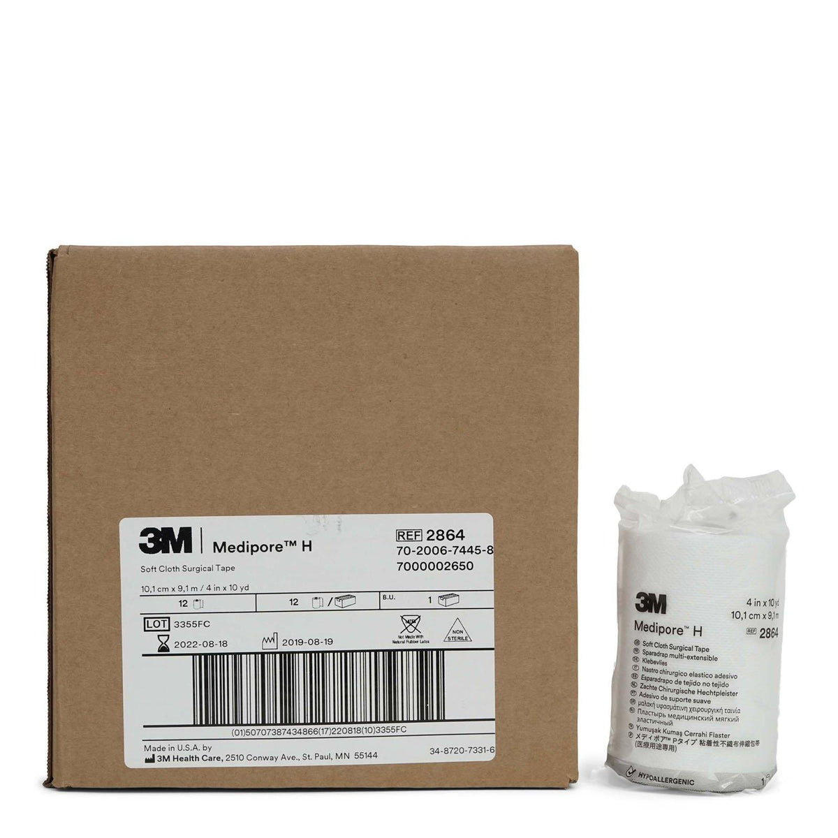 3M | Medipore H Cloth Surgical Tape-4 in. (12/cs)