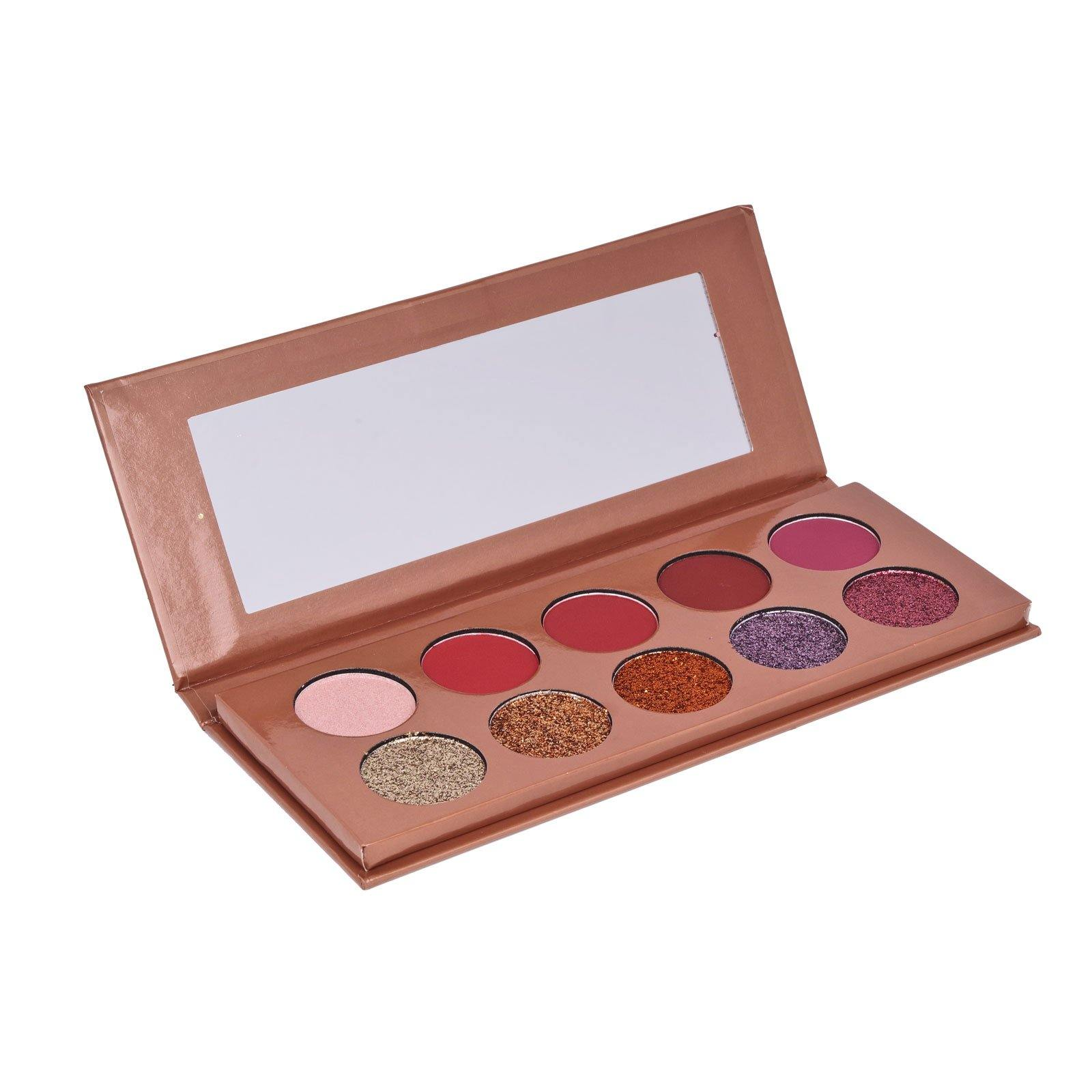 Trend Beauty, Tb10ga, Glitter Rose Gold Eyeshadow, Ten shades of glitters and mattes eyeshadow palette (12/cs)
