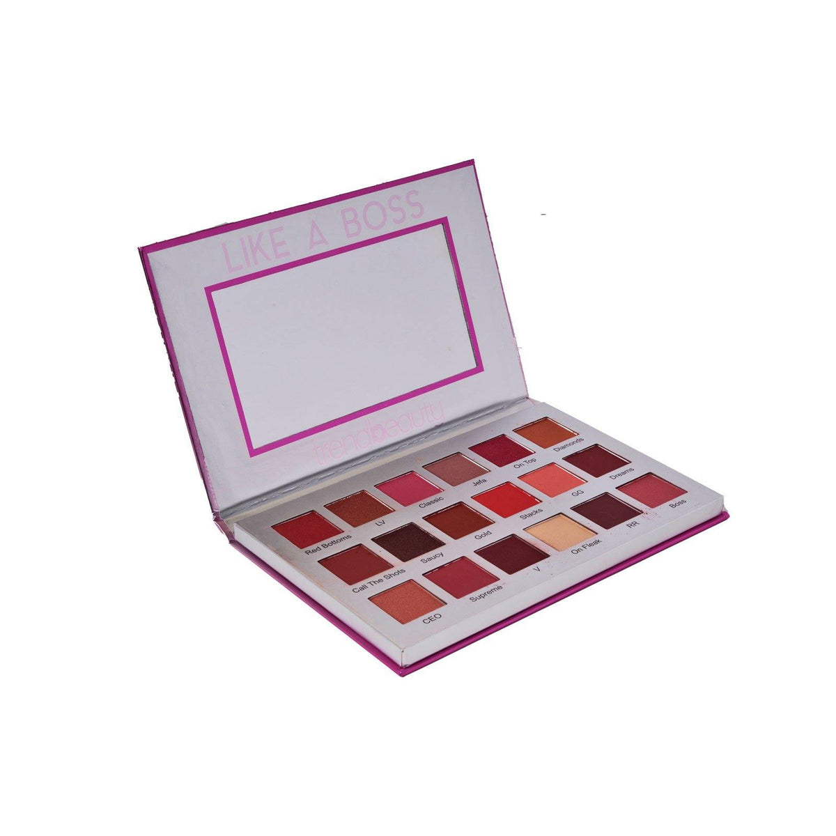 Trend Beauty, Te18 , Like A Boss Eyeshadow, An eyeshadow palette with 18 different tones. Cruelty free. (12/cs)