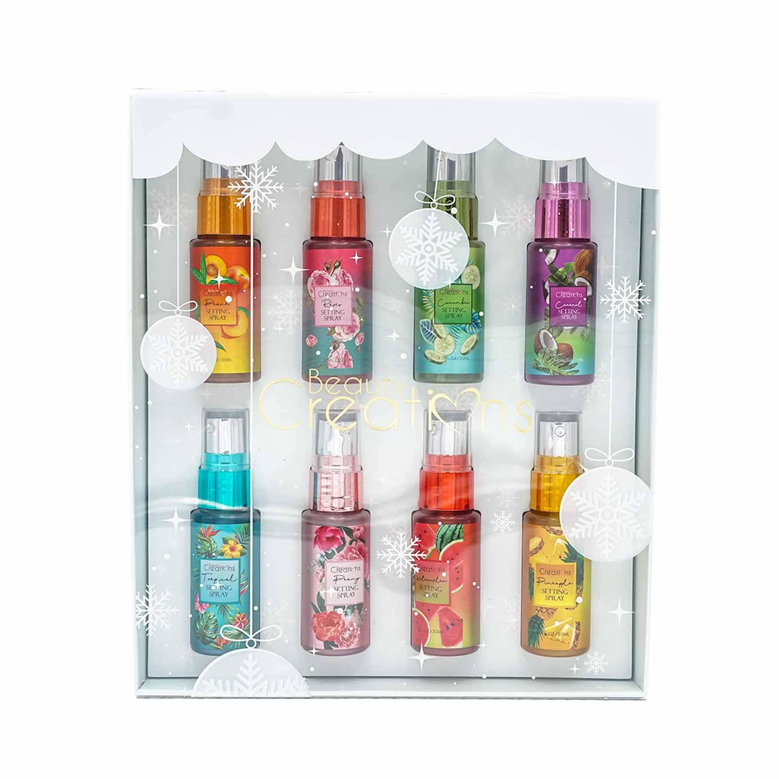 BEAUTY CREATIONS HOLIDAY SET SETTING SPRAY 1&2 COMPLETE- SSGIFT MINI (6/cs)
