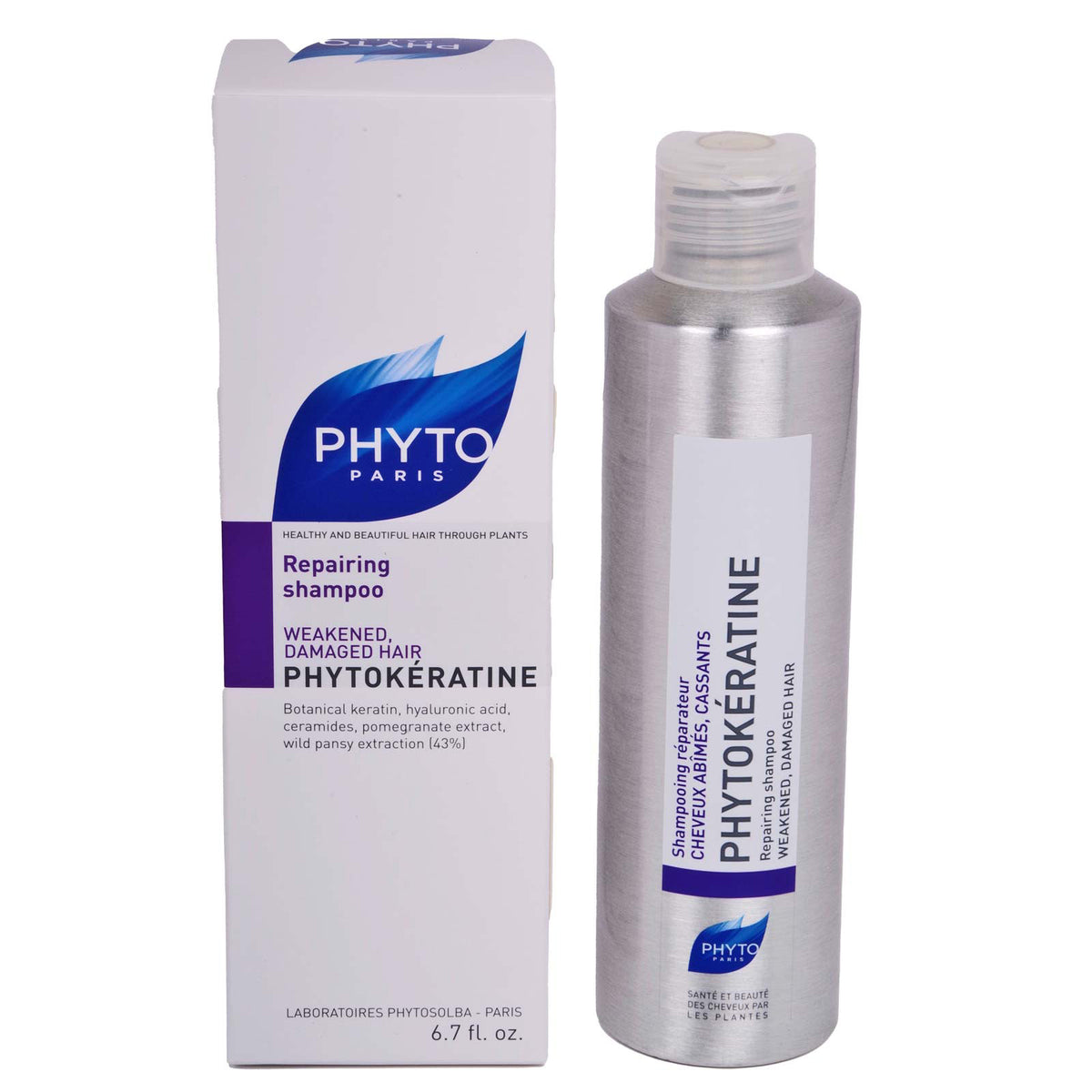 Phyto Shampoo 200ml Phytokeratine - A sensorial shampoo that gently cleanses and repairs deep down, providing nutrition for silky hair with ultimate shine. (12/cs)