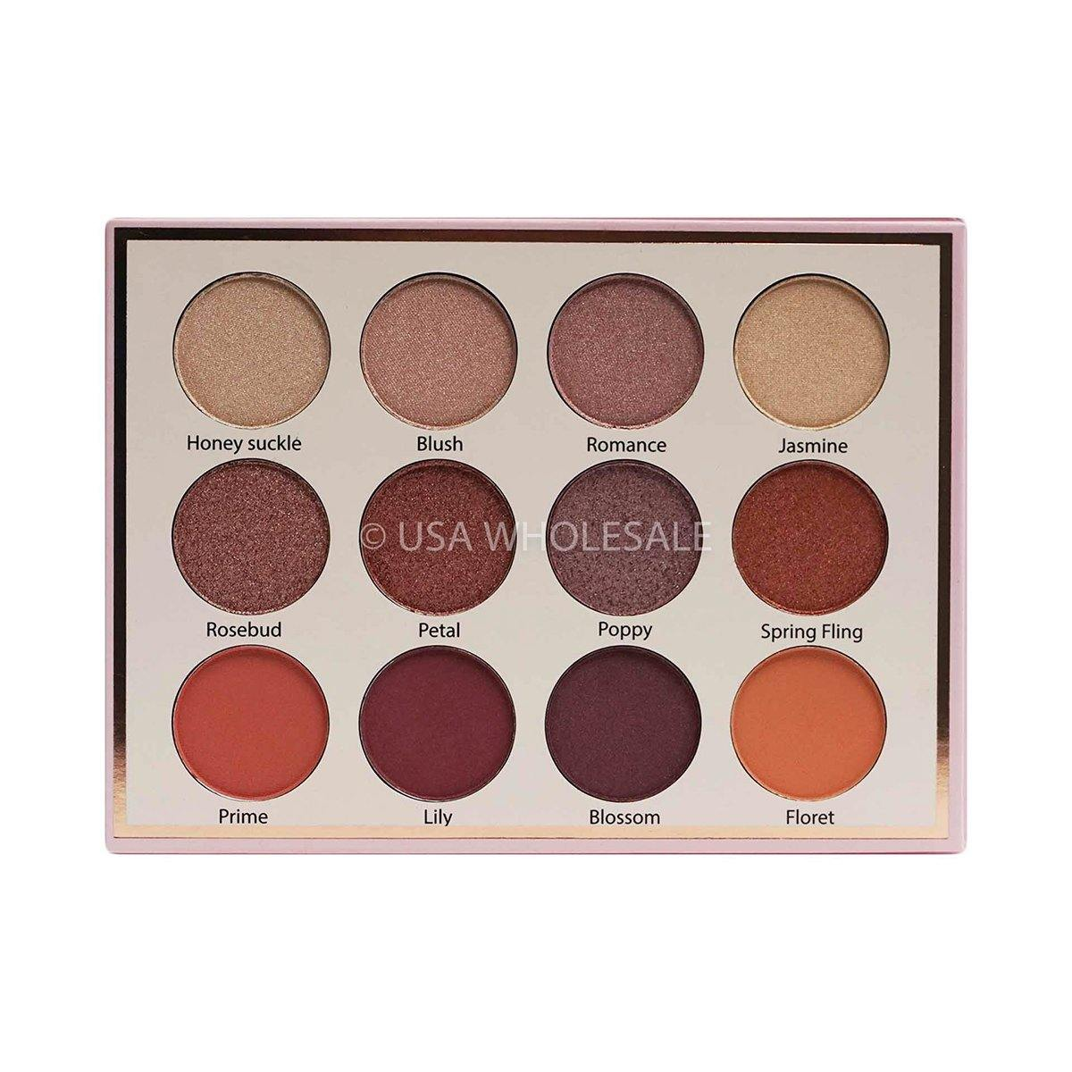 BEAUTY CREATIONS | Floral Bloom Collection Eyeshadow Palette (12 Colors X Case of 12)