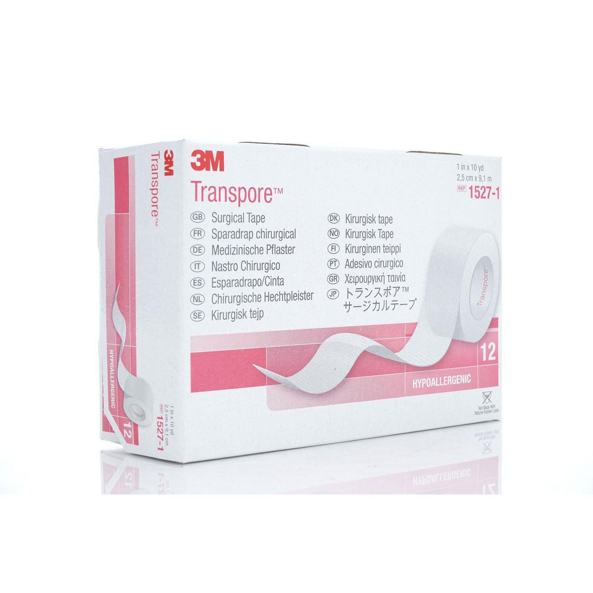 "3M Transpore Surgical Tape, 1"" x 10 yards (10/cs)"