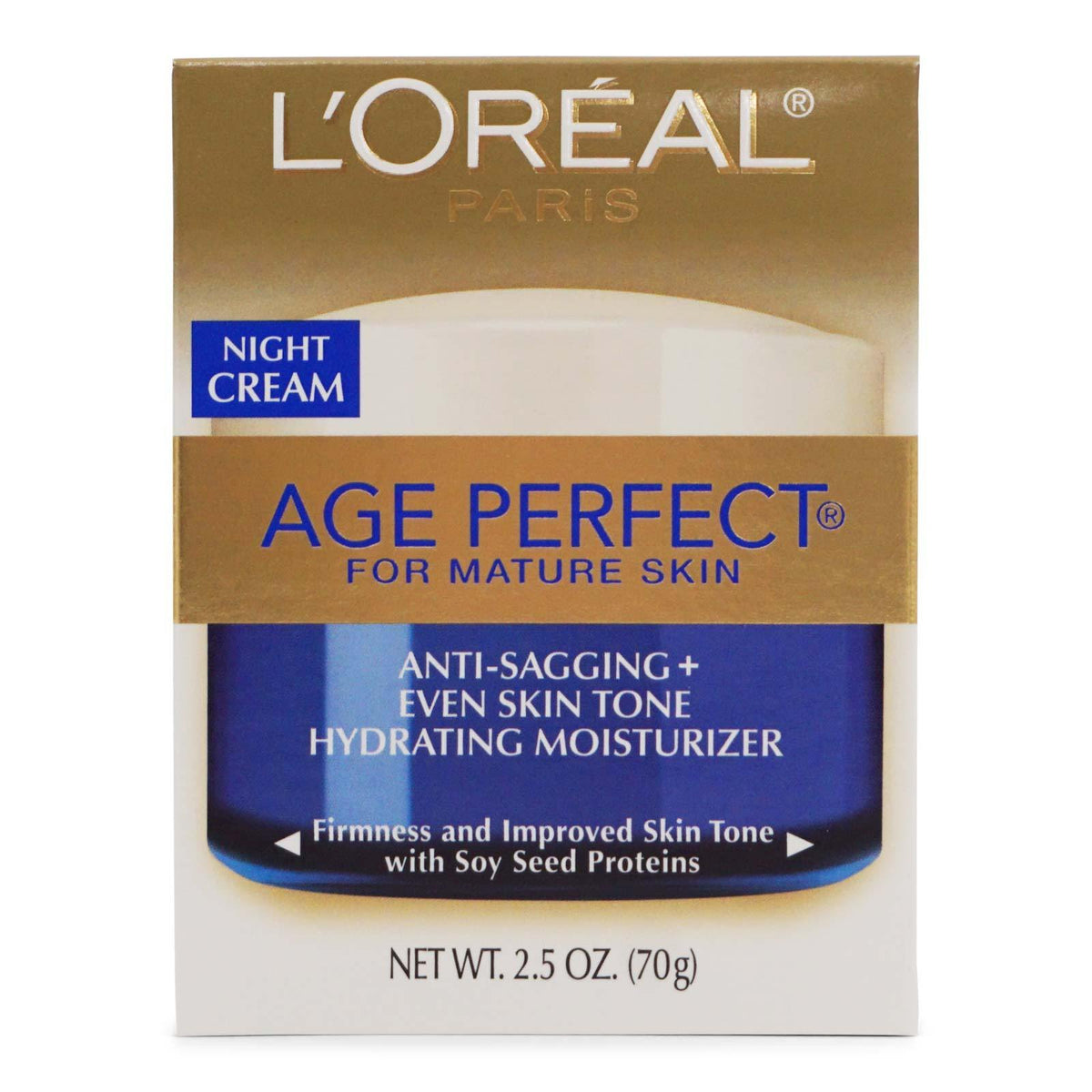 L'Oreal Skin Care Age Perfect Night Cream-Face Moisturizer (2.5oz/70g) (12/cs)