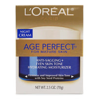 L'Oreal Skin Care Age Perfect Night Cream-Face Moisturizer Anti-Sagging + Even Skin Tone (2.5oz/70g) (12/cs)
