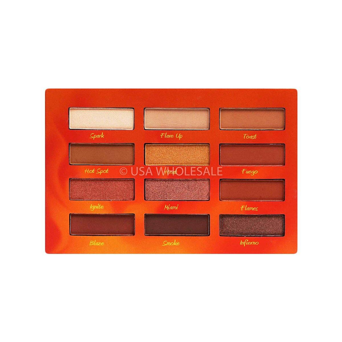 BEAUTY CREATIONS | Hot Fire Eyeshadow Palette (12 Colors X Case of 12)