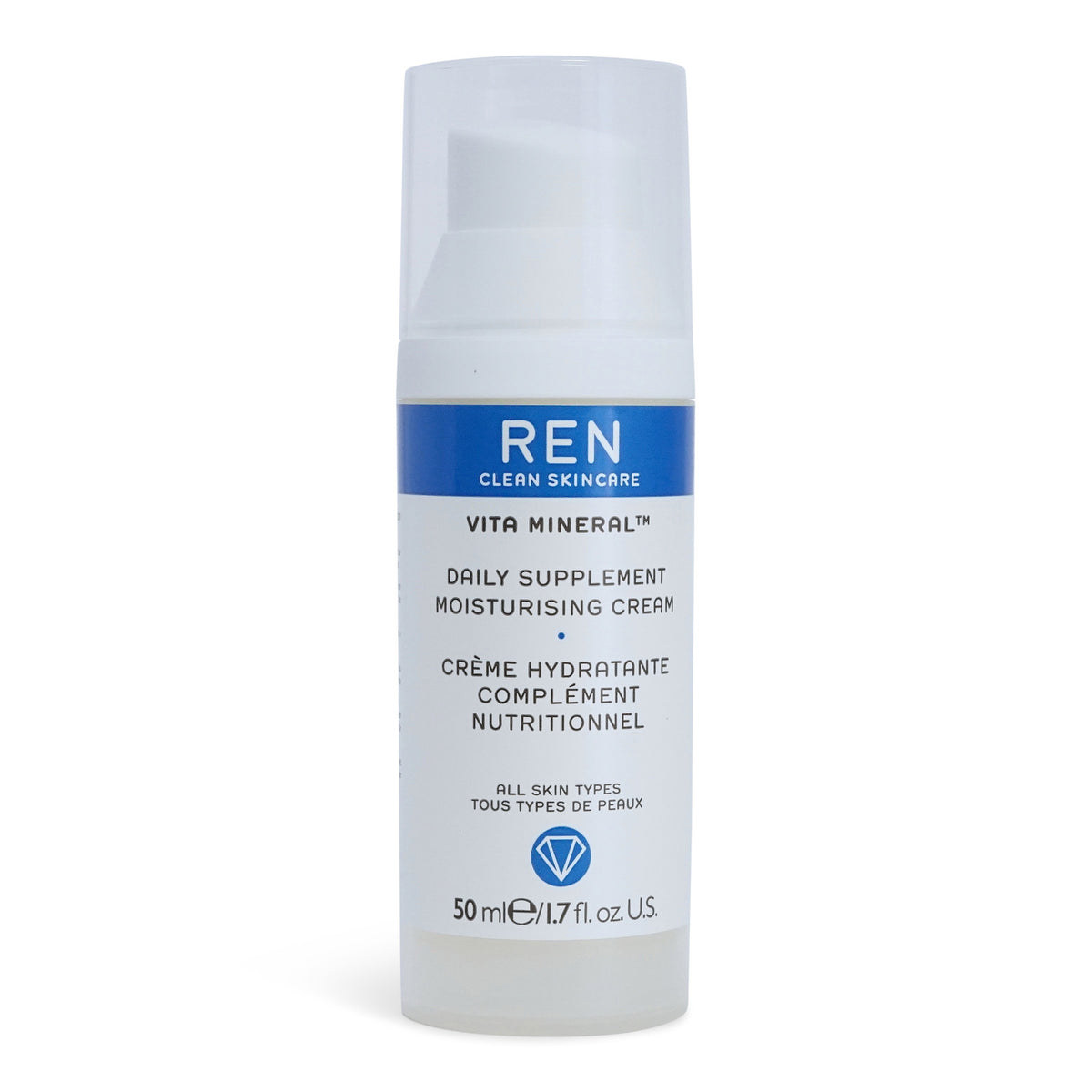 REN Skincare Vita Mineral Daily Supplement Moisturising Cream - multiactive moisturizing day cream (50 ml / 1.7 fl. Oz.) (3/cs)