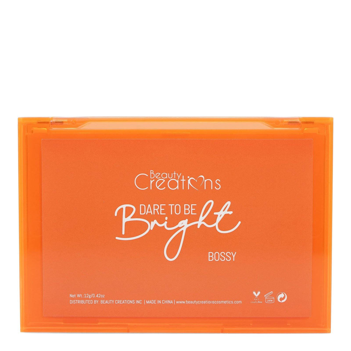 Beauty Creations Dare To Be Bright Eyeshadow Palette, E12NB-B, Bossy (12/cs)