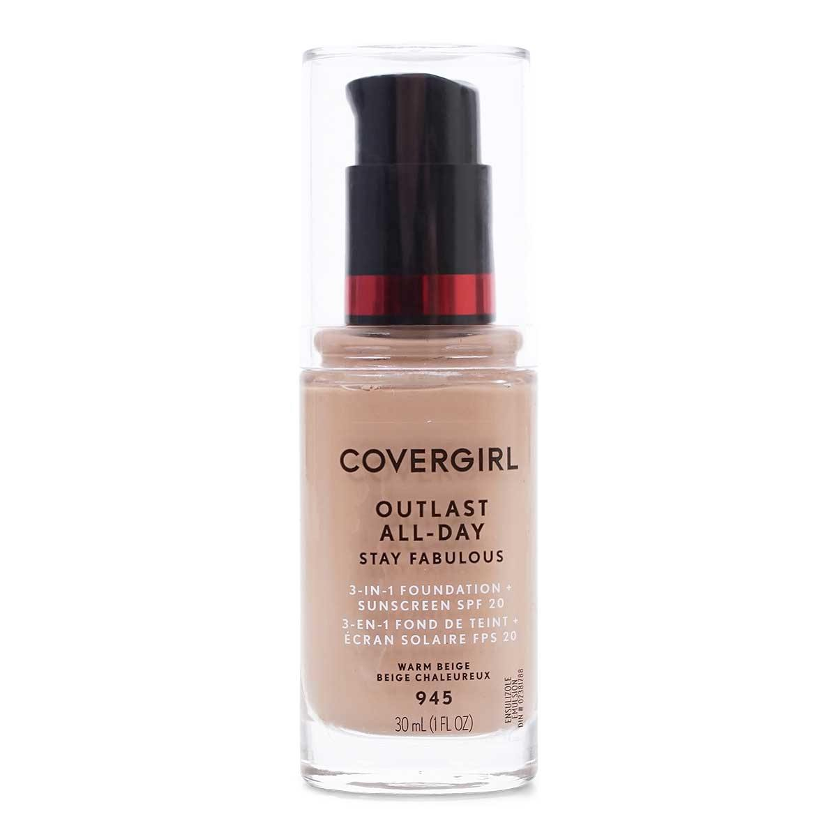 COVERGIRL OUTLAST STAY FABULOUS LIQUID FOUNDATION - Case of 24 units