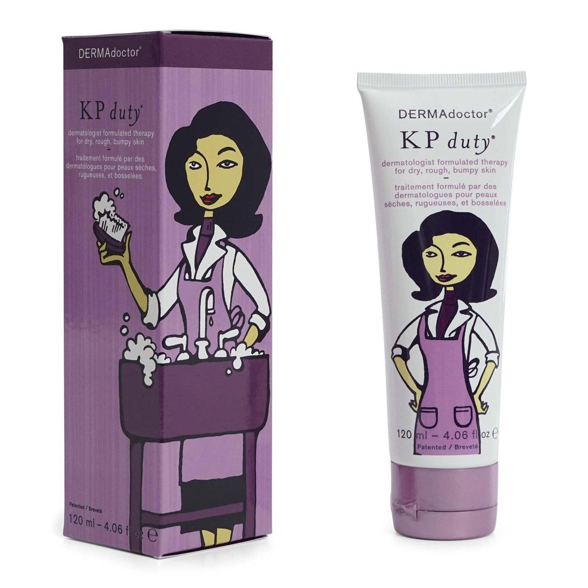 DermaDoctor KP Duty Dermatologist Formula AHA Moisturizing Therapy - improve dry appearance, rough, bumpy skin. Dye Free (12/cs)