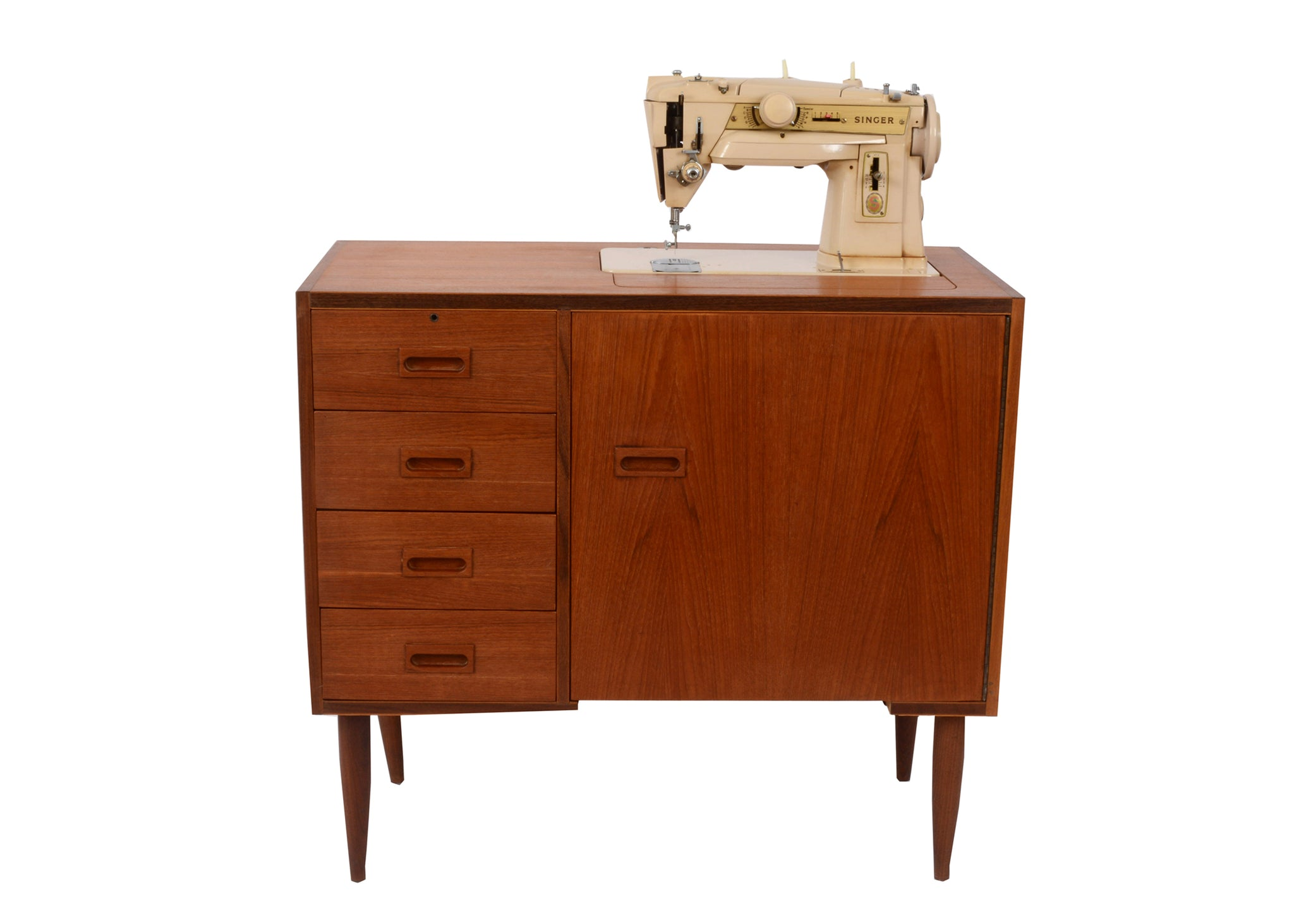Singer sewing Machine mid century sideboard retro teak g plan ireland