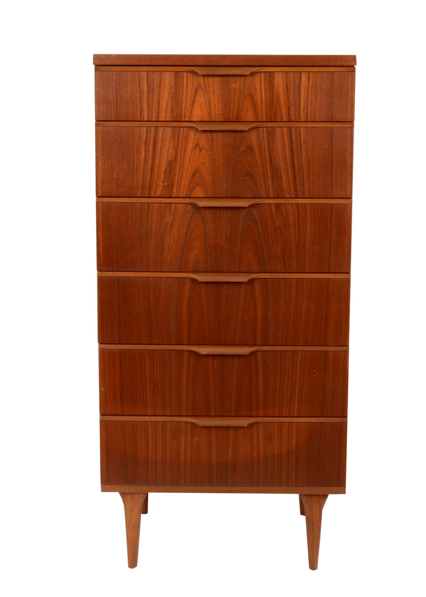Teak Danish Inspired Mid Century Chest of Drawers