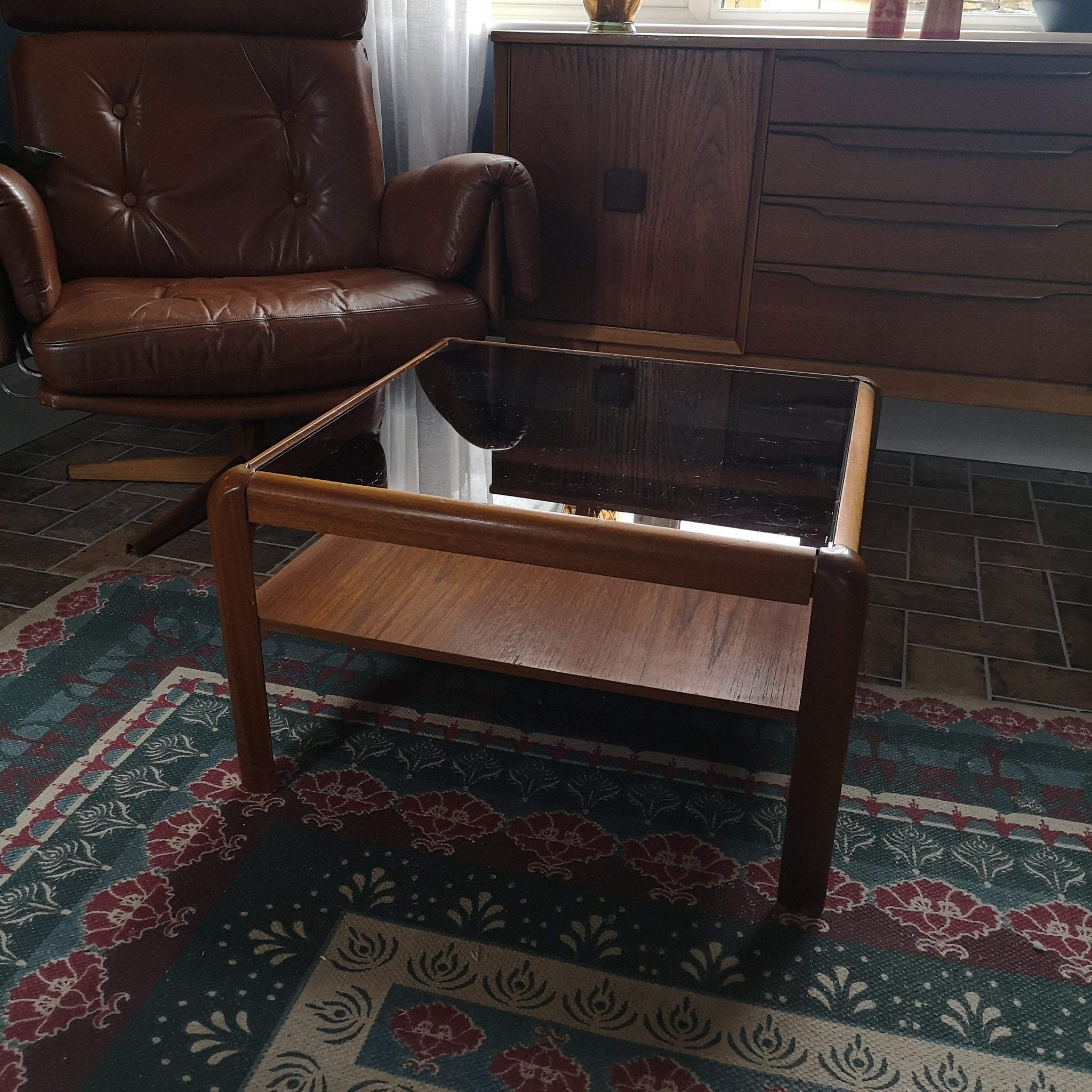 Myers Smoked Mid Century Table