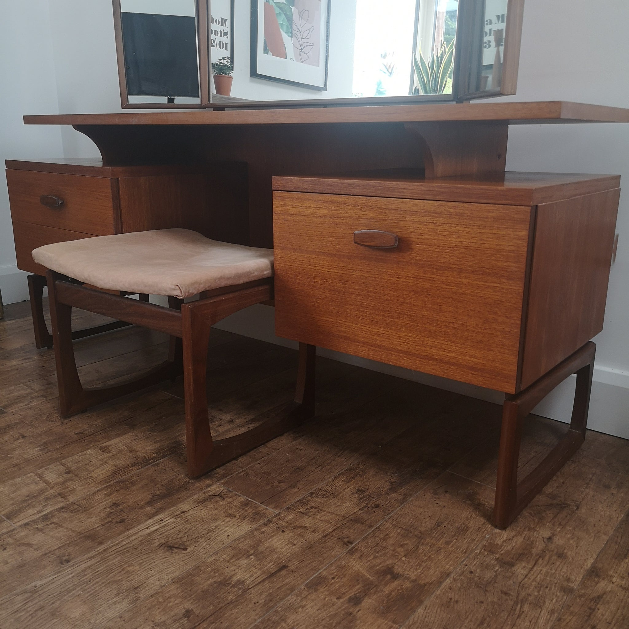 G Plan Quadrille Dressing Table & Stool