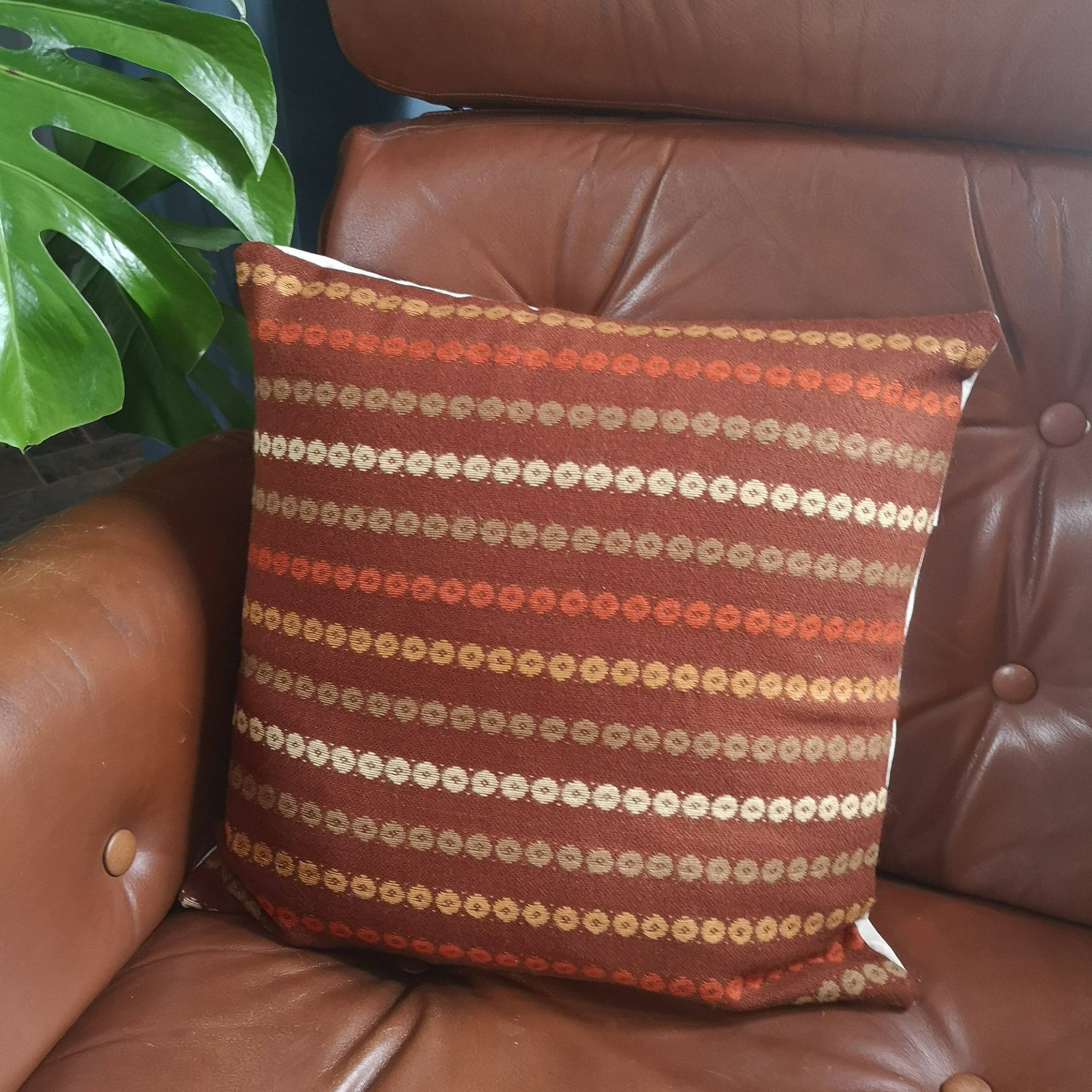 Brown Retro Cushion Cover