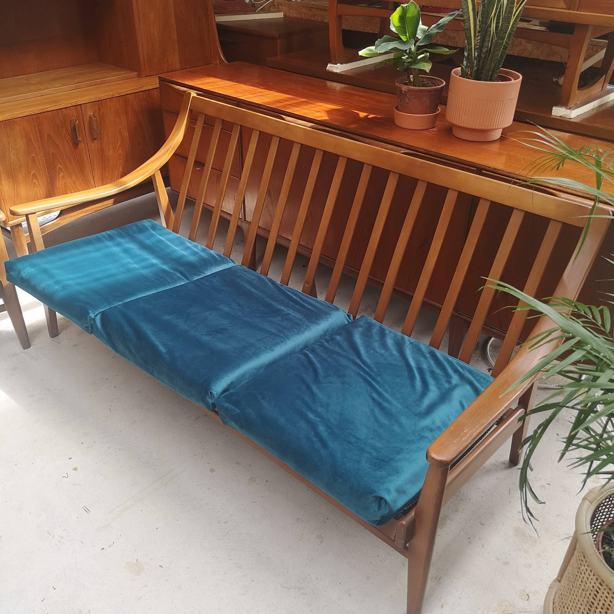 Teak danish influence sofa & chair