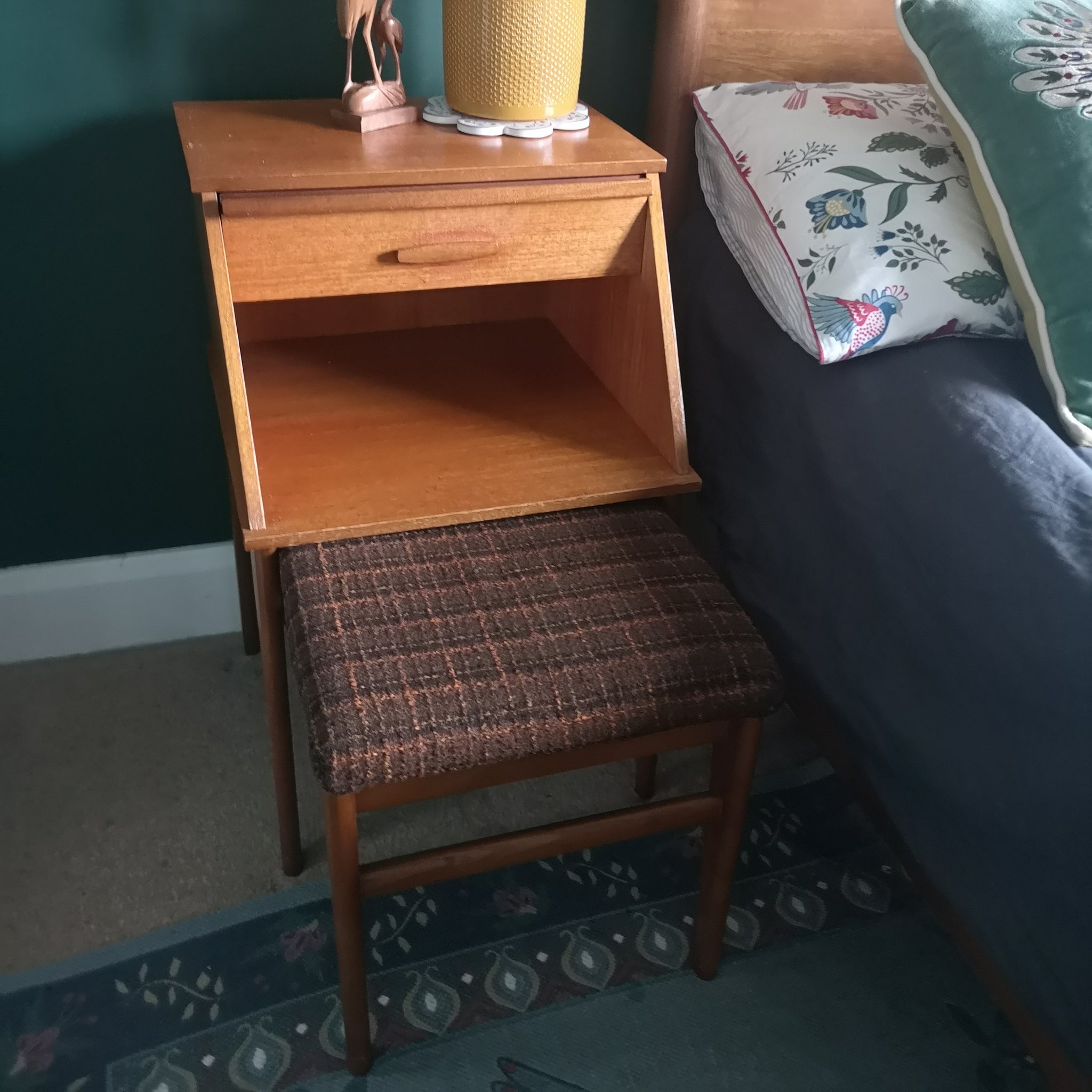 Mid Century Chippy Heath Telephone Table