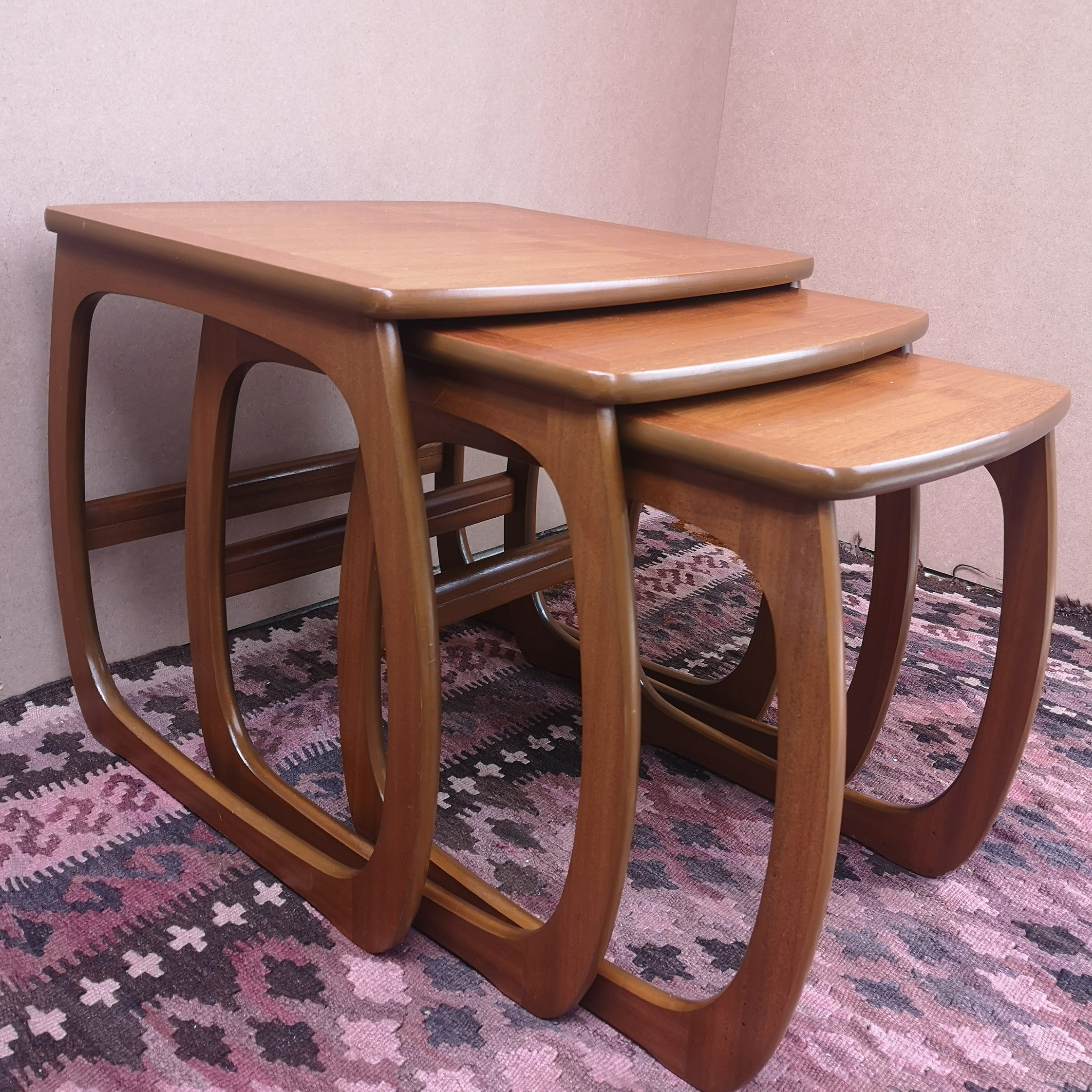Nathan Teak Burlington Nest of Tables