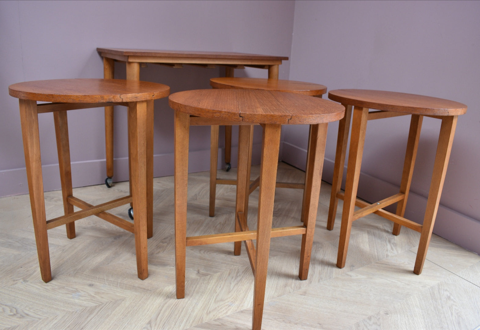 Czech Nesting Tables by Poul Hundevad, 1960s