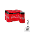 Gaseosa Coca Cola 6pack lata Zero 235 ml