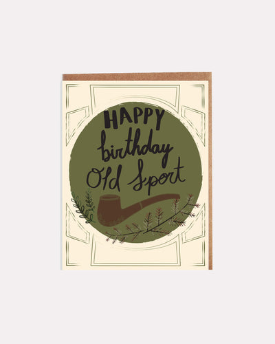 Old Sport Birthday Card