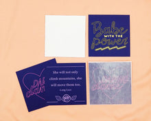 Load image into Gallery viewer, Navy and Neon Mini Card Set