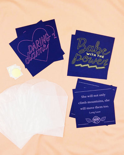 Navy and Neon Mini Card Set