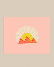 Load image into Gallery viewer, Pyramids & Sunshine Art Print