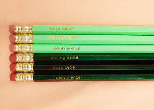 The Original Pencil Set in mint & green