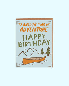 Canoe Adventure Birthday Card