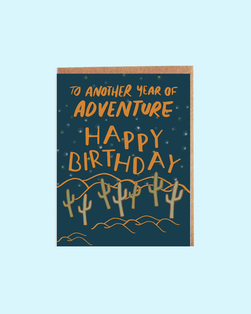 Desert Night Birthday Card