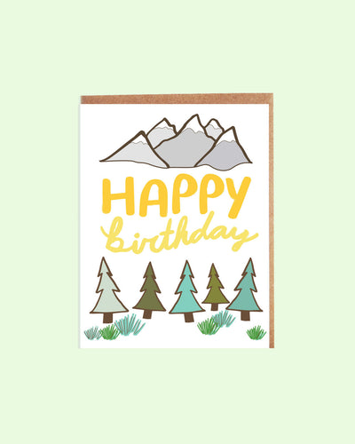 Mountain Adventure Birthday Card