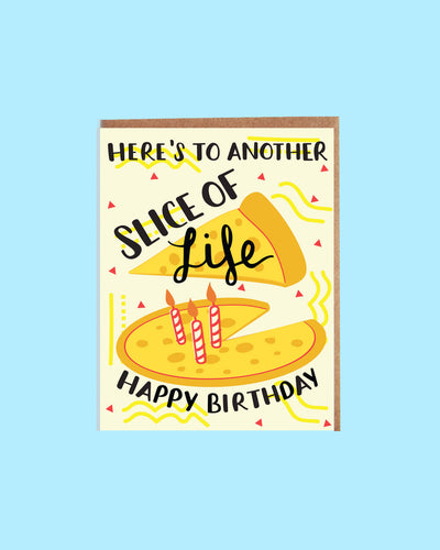 Slice of Life Pizza Card