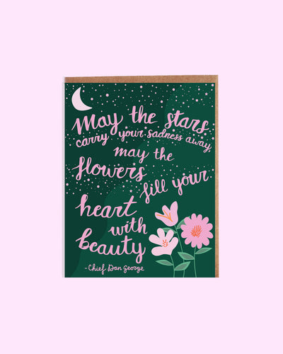 Stars and Flowers Sympathy Card