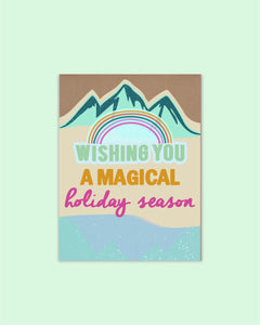 Mountains Die Cut Holiday Card