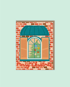 Christmas Window Holiday Card