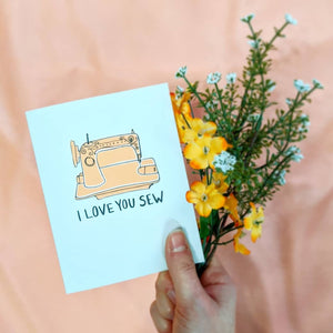I Love You Sew Card