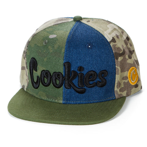 Backcountry Camo/Denim Piecing Snapback