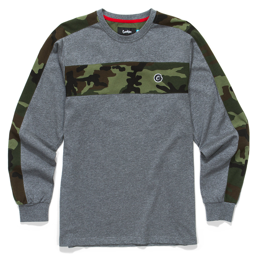 Battalion Camo Pieced L/S Knit