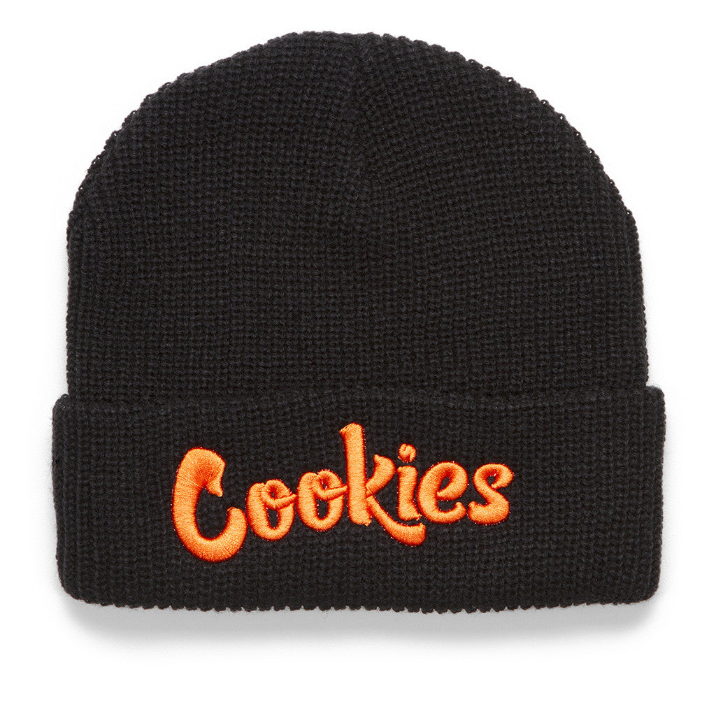 Thin Mint Beanie (Black/Orange)