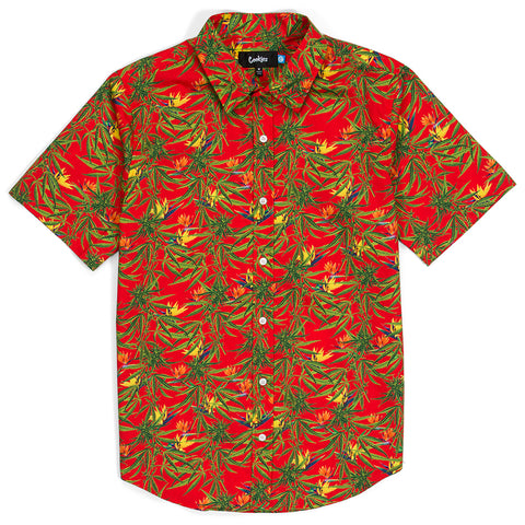 Birds Of Paradise Cotton S/S Woven
