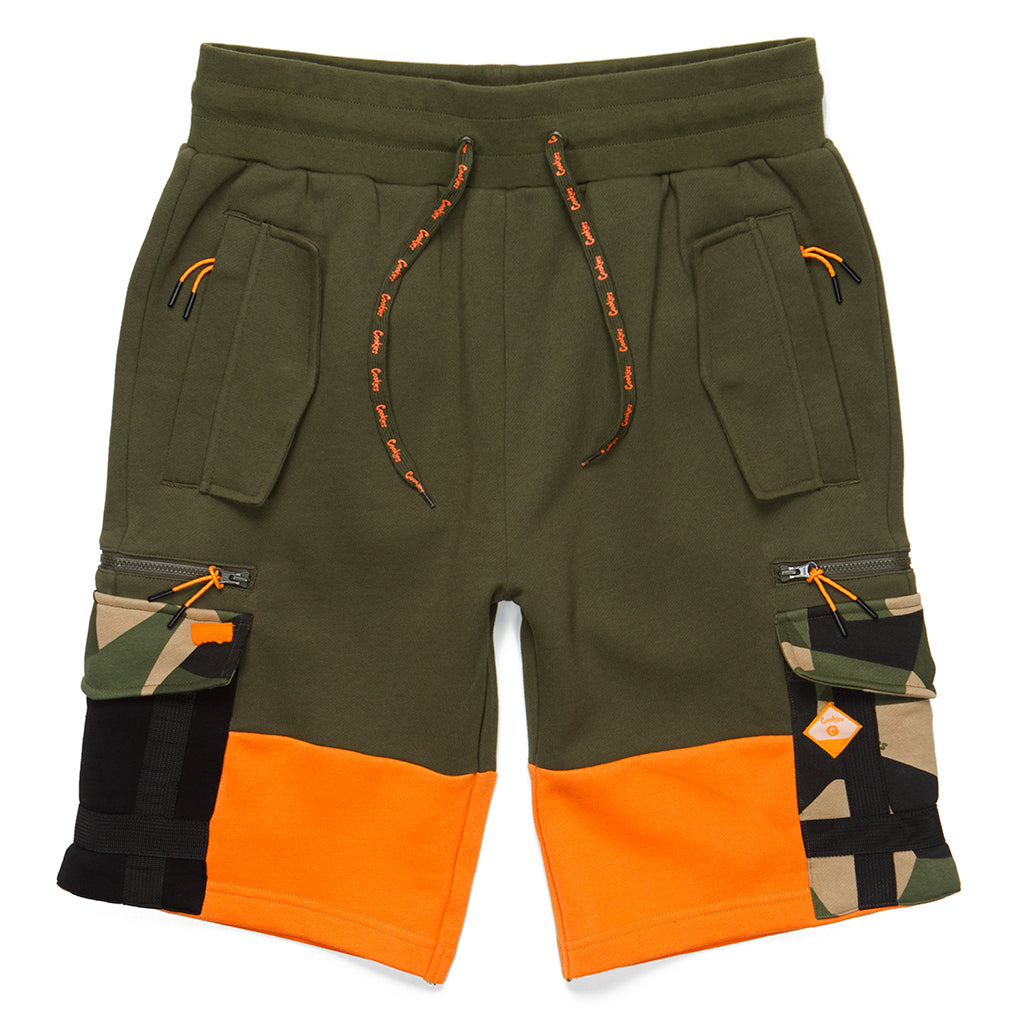 Botanical Fleece Cargo Sweatshorts