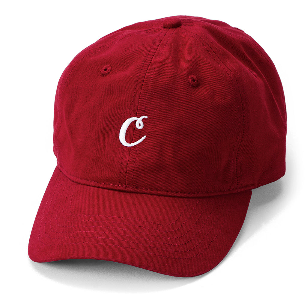 C Logo Dad Hat (Burgundy/White)