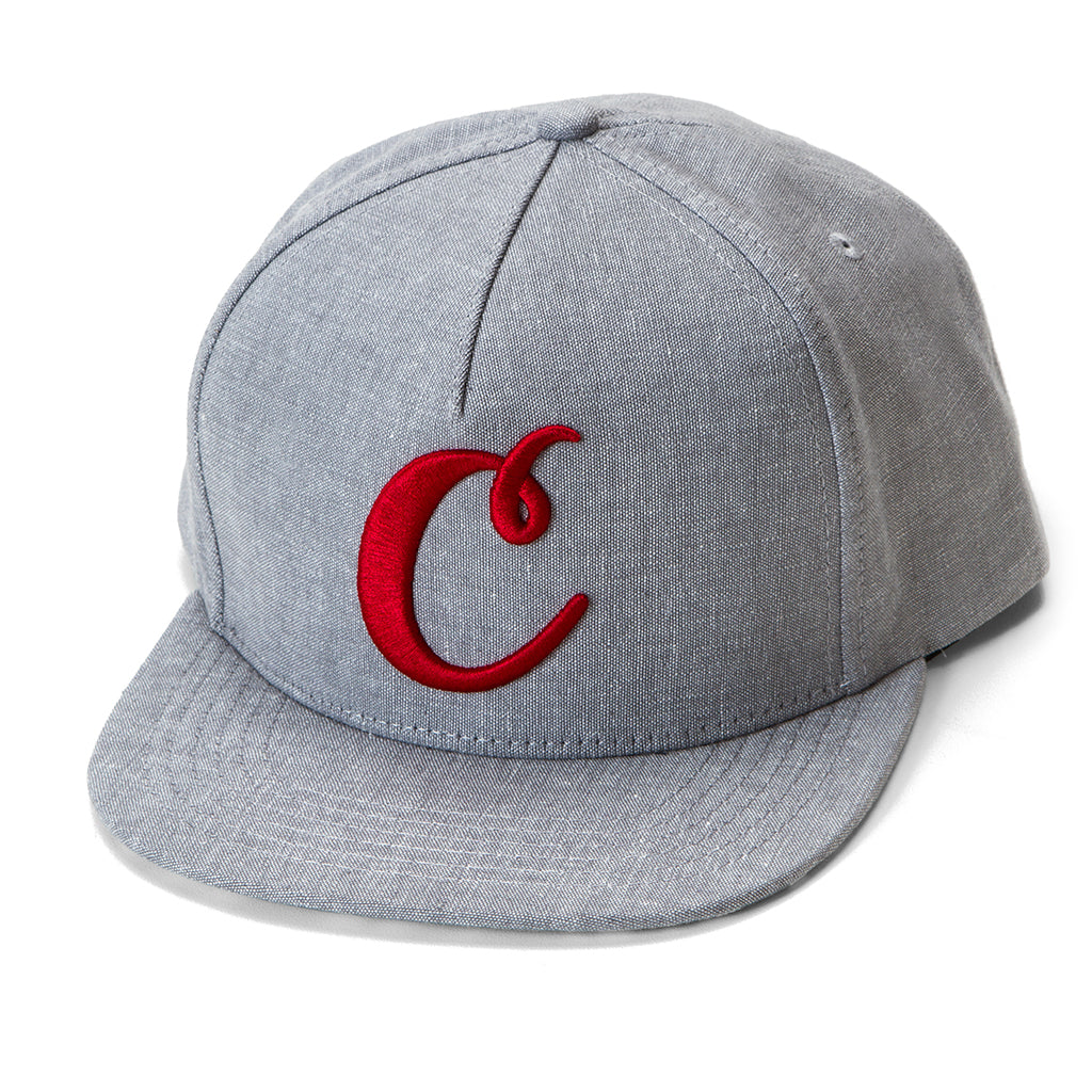 C Logo V2 Snapback (Heather/Red)