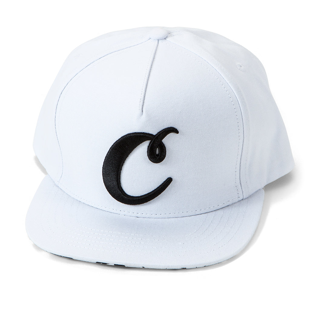 06bb9e62e6cc2e C Logo V2 Snapback (White/Black) – Cookies Clothing