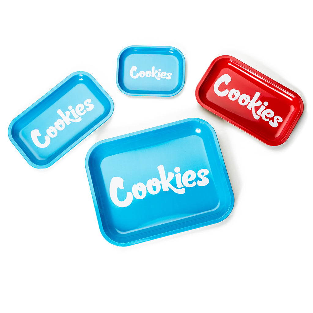 Cookies Blue Metal Rolling Tray