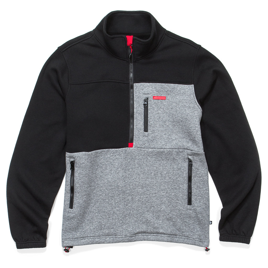 Corleone Pieced Half Zip Fleece Jacket