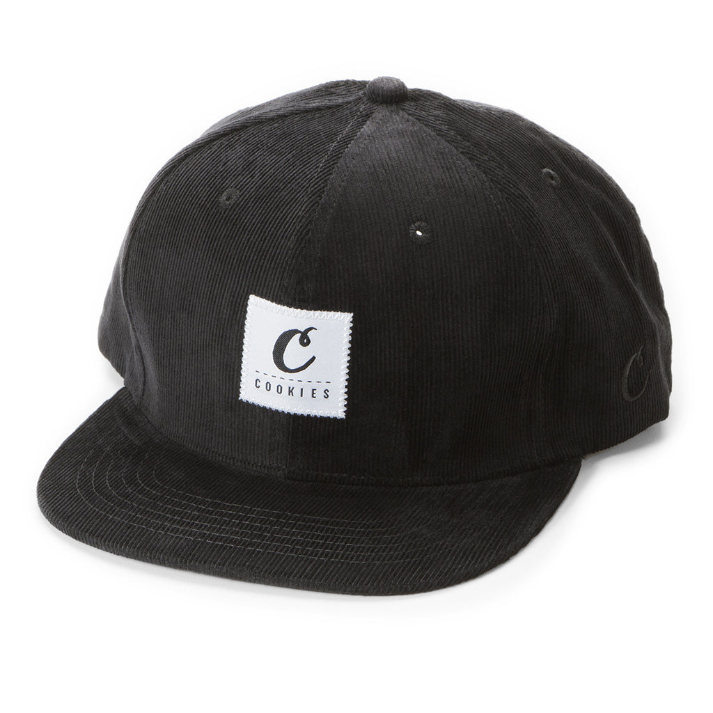 Cookies Patch Corduroy Strapback (Black)