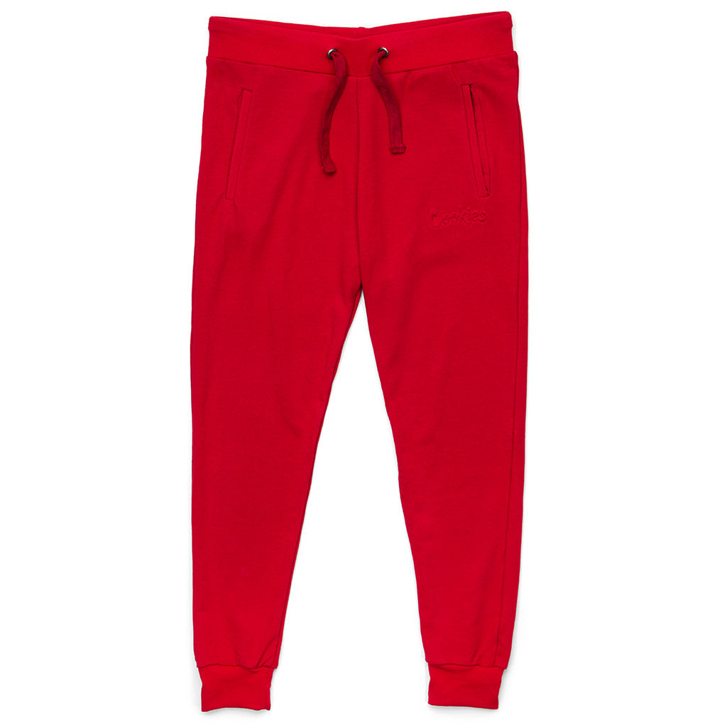 Womens Embossed Thin Mint Sweats (Red)