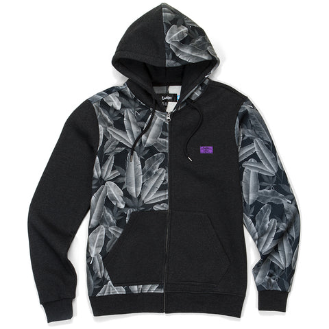 Emerald Triangle Zip Hoodie ( Heather Charcoal)